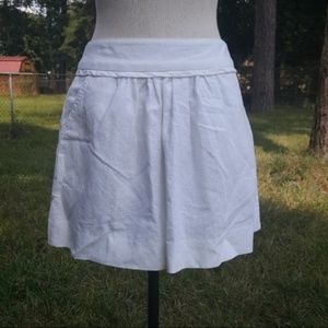J. Crew Factory White Pocket Zip Mini Skirt 0